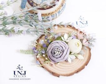 Wedding jewelry, Wedding flower hairclip, Bridal hair accessories, Wedding hair accessories, Bridal hairclip, Flower Brooch