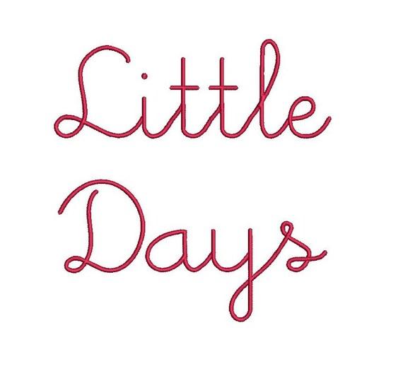 Little days script embroidery font formats dst exp pes jef