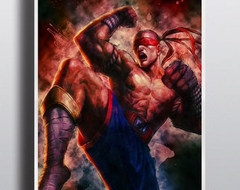 Lee Sin Poster, League of Legends Print, LoL Premium Photo Paper, Big Sizes, Print no.52