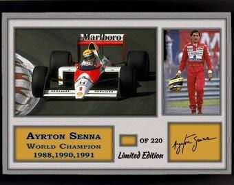 Ayrton Senna signed autographed Memorabilia Formula 1 McLaren Honda Champion 3