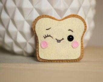 Toast mini plush felt