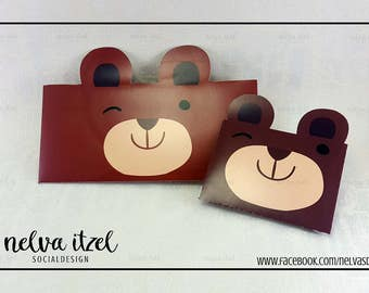 About bear, silhouette studio, cameo, bear envelope