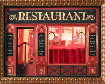 Showcase Miniature Restaurant Paris