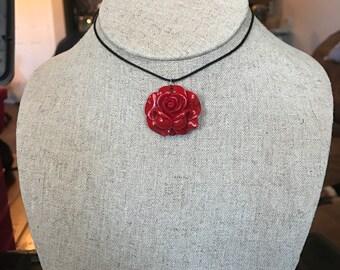 Red Rose Choker