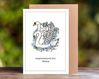 Swan Engagement/Wedding/Anniversary Card