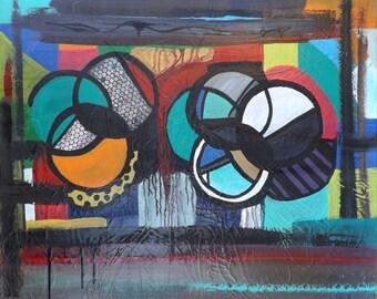 Painting abstract original COG joint creation by Karina