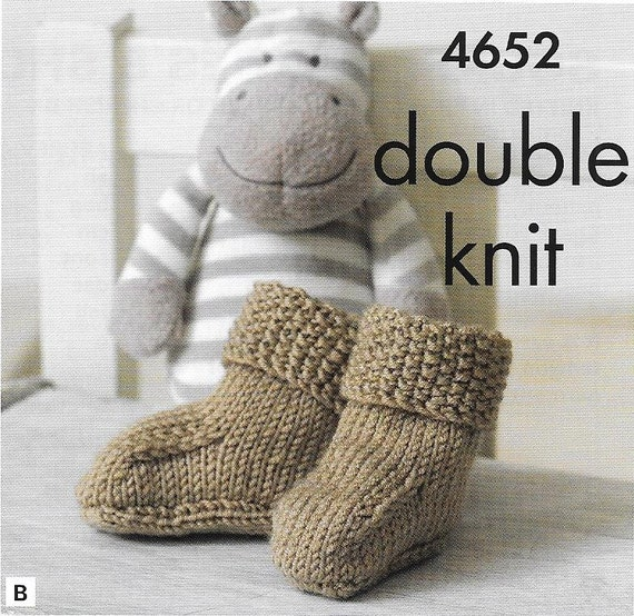 Knitting pattern King Cole 4652 D.K baby shoes and boots from WoolmaniaIrelan...