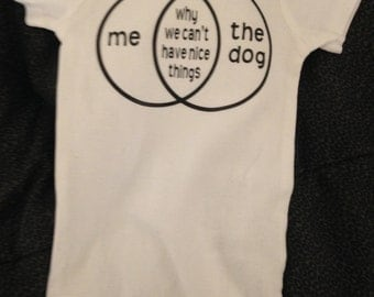Baby and Dog onesie
