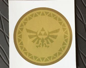 Custom Legend of Zelda amiibo base Vinyl Sticker