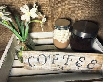 Rustic coffee sign