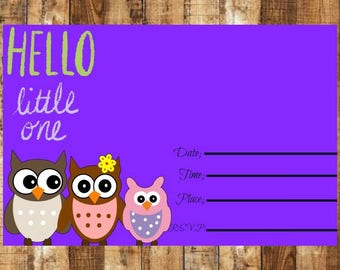 Digital Baby Shower Invitation~ Baby Shower Invitation~Baby Shower Invitation~Owl Baby Shower Invitation~ Owl Baby Shower Invite, BabyShower