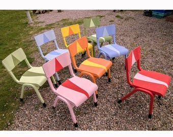 8 Upcycled Stackable Beach Childrens Chairs