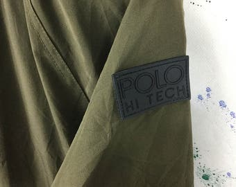 Vintage Polo Hi Tech Sport Ralph Lauren Windbreaker Jacket 90s Hip Hop