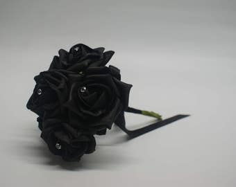 Wedding Posy - Perfect for Bridesmaids ( Black )