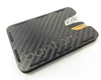 Carbon Fiber RFID Blocking Tactical Minimalist Wallet For Cards & Cash