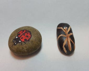 Insect Brigade! Bug Pet Rocks! Ladybug, snails, stick insect