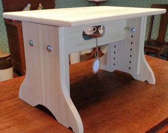 Adjustable Cello Bench - Poplar Hardwood