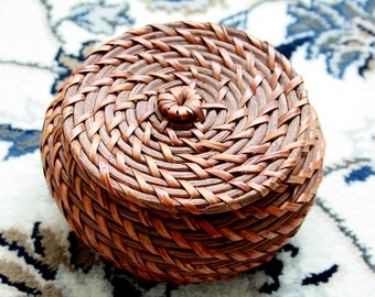 Little Woven Basket With Lid