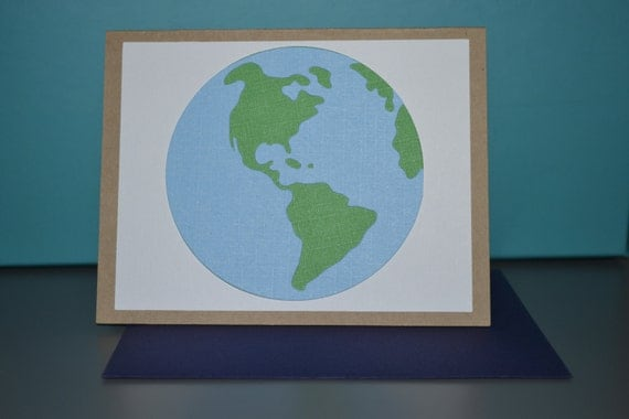 Handmade Earth and Art Card