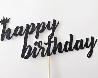 Happy Birthday Cake Topper-Birthday Cake Topper-Handmade Cake Topper