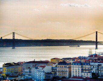 25 de Abril Bridge, Lisbon, Portugal, Europe, Travel, Photography, Fine Art Print, Home Decor