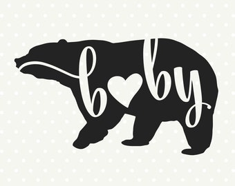 Family DXF file, Baby Bear svg file, Bear silhouette file, Kids Shirt svg file, Commercial DXF file, DXF cutting file, silhouette svg file