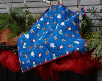Baby for Christmas Quilt - to the red nose reindeer