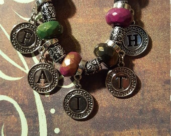 FAITH NECKLACE - With Multi-Colored Beads