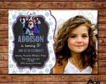 Frozen Birthday Invitation, Frozen Birthday, Disney Princess Invitation, Princess Birthday Invitation, Anna and Elsa
