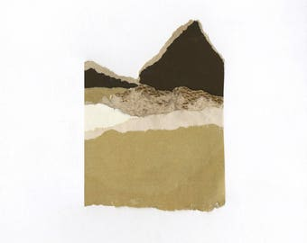 Abstract Collage Landscape | Archival Fine Art Print | Giclee Print | Wall Decor | Collage 28