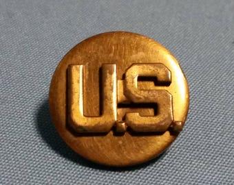 WW2 US Military Collar Disc