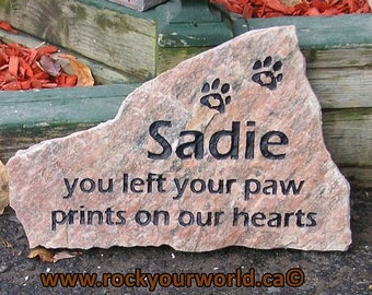 Medium Pet Memorial Stone (Grave Stone / Marker)