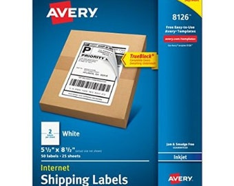 Avery Shipping, Mailing Labels (8126) TrueBlock Technology LOW PRICES