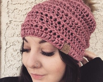 The Willow Beanie // Pink Beanie // Ribbed Beanie