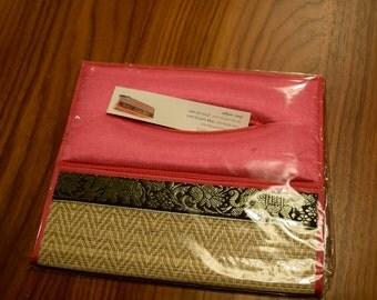 Pink Silk Tissue Box Cover