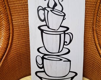 Coffee Cup Wall Display