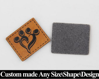 400 Leather label tag, Custom leather labels tag, Leather label patch tag, Custom leather tag, Embossed leather tag, Leather label tags