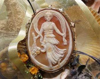 Antique Goddess Cameo