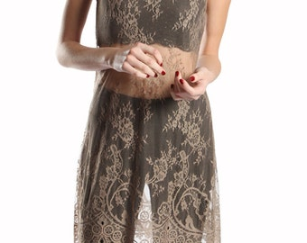 Sheer Lace Overlay