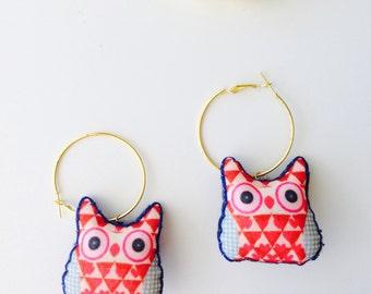 Boho Nightowl Hoop Earrings