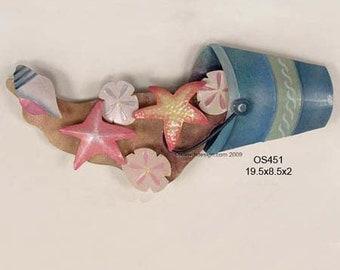 Pail of Spilled Shells Metal Wall Art - OS451