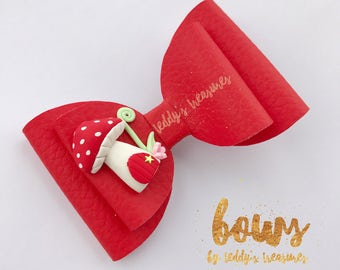 Toadstool hair bow