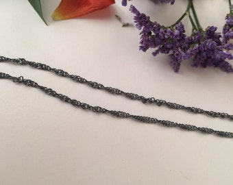 Sterling silver chain Necklace, Choose Silver chain, kids chain, Silver Womens chain, mens Silver chain, dark silver chain