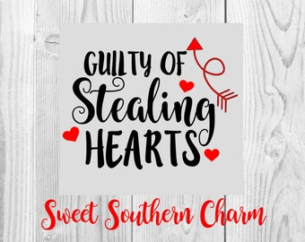guilty of stealing hearts svg - hearts svg - heart svg - valentines svg - valentine svg - valentines day - valentine cutting file - svg file