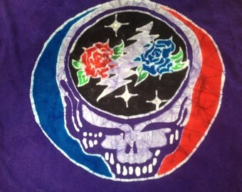 Batik steal your face roses Grateful Dead