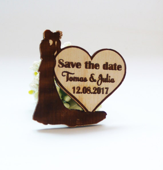 10 Wooden Save The Date Magnets Custom Save The Date Wedding Invitation Guest Favor Wooden Magnets Heart Save The Date Wooden Favor