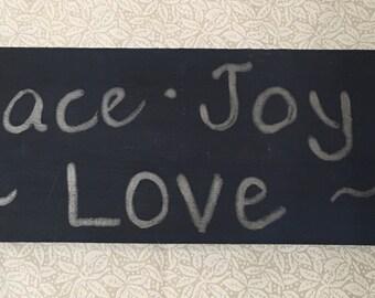 Peace., Joy, Love