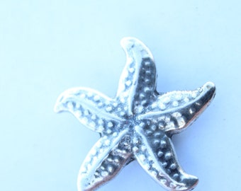 for leather 10mm sold per 2 pieces sea star pattern