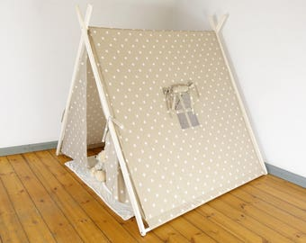 Play Tent, Childrens Teepee, Kids Room Decor, Teepee, Kids Tent, Playhouse, Play teepee, Childrens Tipi, Wigwam,