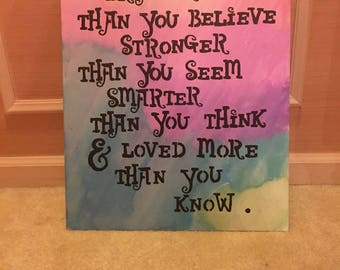 Inspirational quote on canvas 7